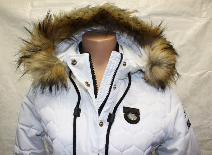 Dámská bílá zimní bunda od holandské značky Nickelson